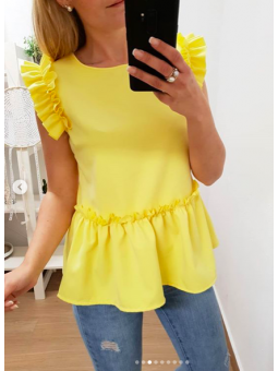 Blusa Jimena volante amarilla