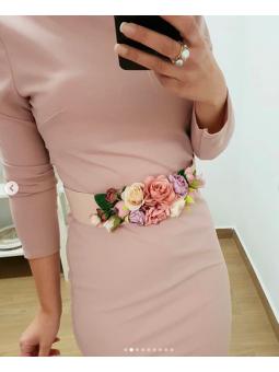 Cinturón flores rosas