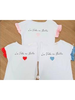 """Camiseta """"La vida es bella""""..."""