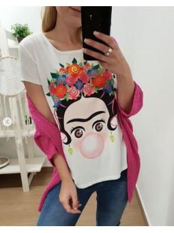 Camiseta Frida chicle