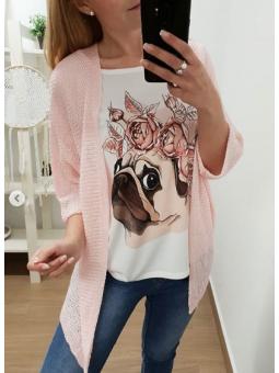 Chaqueta oversize rosa