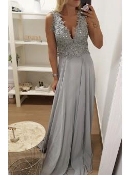 Vestido fiesta Jasmine gris