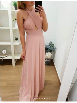 Vestido fiesta Andrea rosa