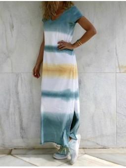 Vestido degradado aguamarina