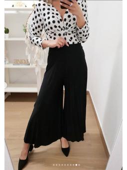 Pantalon plisado negro