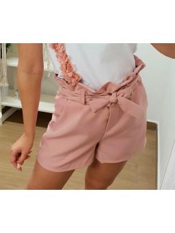 Pantalones cortos rosas lazada