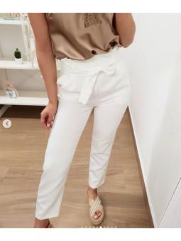 Pantalones blancos lazada