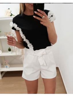 Pantlones cortos lazada blanca