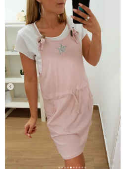 Vestido corto rosa estrella...