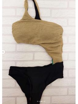 Bañador negro/dorado (SE8915)