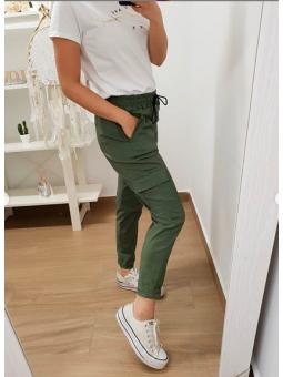 Pantalones verde militar...