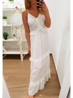 Vestido largo blanco...