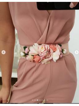 Cinturón engomado rosa