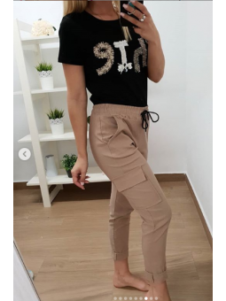 Pantalones bolsillos camel