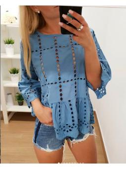 Camisa calada azul vaquero