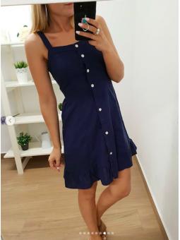 Vestido corto azul marino...