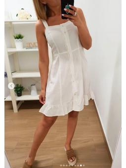 Vestido corto blanca...