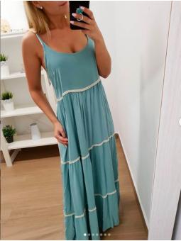 Vestido aguamarina Cancún