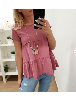 Camiseta fresa + collar