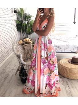 Vestido Hawai tonos rosas y...