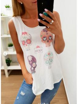 Camiseta tirantes calaveras